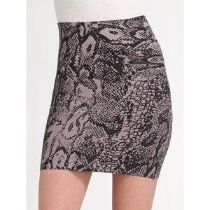 BCBG Power Skirt - Snake Print - Size XS